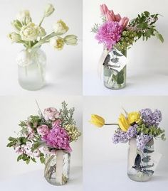 Flowers in mason jars are perfect for a more casual wedding flowers style. Helen Blakey Flowers can create this look for you.