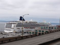Cruise Ship Leaving Seattle!!! #SeattleWaterFront