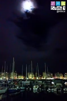 ...you can't fight the #moonlight!!! #Piraeus #Pasalimani #Greece #passion4greece #passion4gr #winter