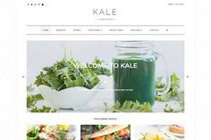 Kale - The Perfect Food Blog Theme by lyrathemes on @creativemarket