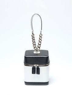 tashiana no.3 petite square bag black&white