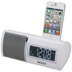 Jensen Universal iPod/iPhone Docking Digital Dual Alarm Clock Radio, FM PLL Receiver, Digital Volume Control, Aux Line-in, Additional Charging USB Digital Clock Radio, Radio Alarm Clock, Radios, Ipod, Basement Furniture, Cool Electronics, Usb, Nebraska Furniture Mart, Girls Bedroom