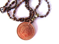 Coin Necklace Authentic Vintage Coin Jewelry The by HendysHome, $18.00