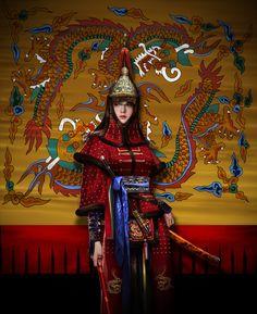 Joseon Dynasty 9 by Choong Yeol LeeEnjoy More Battle-Ready Babes. Female Character Design, Character Creation, Character Concept, Character Art, Concept Art, Female Armor, Female Knight, Korean Art, Asian Art