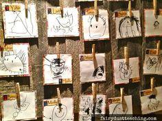 Reggio Emilia: Child Art - Identity Panels - Fairy Dust Teaching #Reggio Emilia