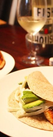 Blackened Tilapia Baja Tacos Paired with Fish House Sauvignon Blanc. #wine #food #recipe