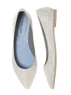 Lace Bridal Ballet Flat http://www.dessy.com/accessories/lace-bridal-ballet-flat/#.VHa73YvF81Y