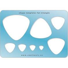 Jewelry Shape Template - Fat Triangle