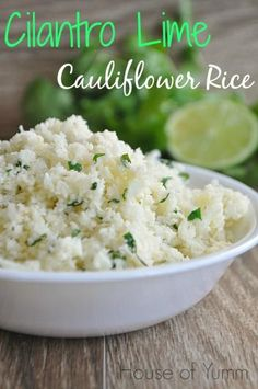 Honestly, I am amazed by this. Light and fluffy Cilantro Lime Cauliflower rice! #gluten free #vegan