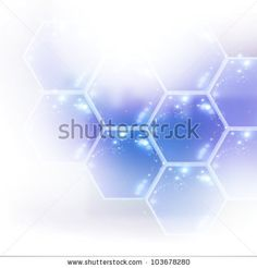 Technology background template with hexagon-es, eps10 vector illustration - stock vector