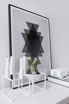 MA MAISON BLANCHE: By Lassen with poster from my collection - more at http://www.mamaisonblanche.cz #kubus #byredo #bloomingville
