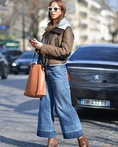 The Melanie on the streets of Paris Fashion Week, spotted by @voguegermany. #modelcitizen #pfw