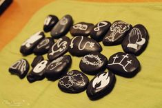 Easter Story Stones - draw symbols on rocks to help tell the Easter story!