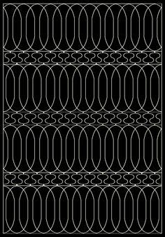 Trend Black Geometric Area Rug