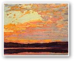 Tom Thomson Sunset Sky, Canadian Group of Seven Group Of Seven Artists, Group Of Seven Paintings, Paintings I Love, Oil Paintings, Emily Carr, Canadian Painters, Canadian Artists, Tom Thomson Paintings, Impressionist Paintings