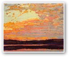 Tom Thomson  Sunset Sky