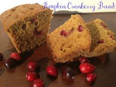 Pumpkin Cranberry Bread #CartonSmart