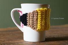 Pencil Cozy (mug hug) - free crochet pattern by Cyrena Brown / High Strung Fiber Arts.