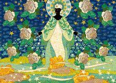 Orisha Yemanja - Lady of seas - by Menote Cordeiro- Brazil Orisha, African Mythology, Black Mermaid, Sacred Art, Gods And Goddesses, Archetypes, Black Art, Deities, Pagan