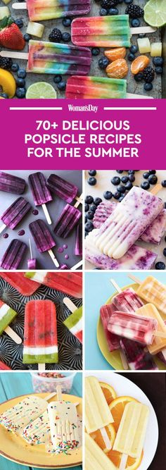 Cool off during the summer with one of these beautiful, easy to make popsicle recipes.
