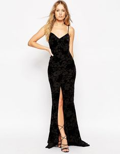 Image 4 of Needle & Thread Scatter Devore Velvet Burnout Maxi Dress