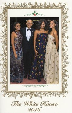 Happy Holidays 2016 from the First Family #44