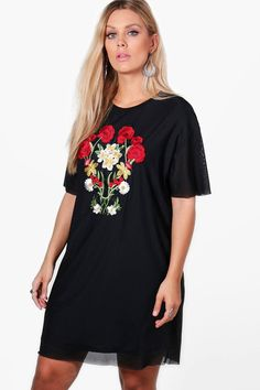 ca5780e85ac Plus Emily Mesh Embroidered Shift Dress. Curves ClothingTrendy Plus Size  FashionBadass WomenCheap ...