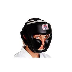 ProForce Full Headguard Headgear Black leather Boxing and MMA