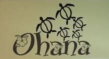 ohana means family.  The fact that this has turtles on it makes it imperative to paint this.