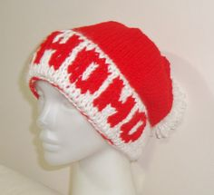 Hand Knit Hat Santa hat  Womens hat Slouchy hat in by earflaphats, $39.99