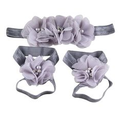 $5.28 for Baby's Girl's Infant Headbands Hair Bows and Barefoot Sandals Flower