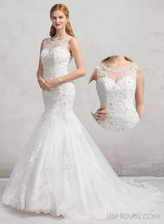 Perfect Mermaid Wedding Dress Show Your Beauty JJsHouse