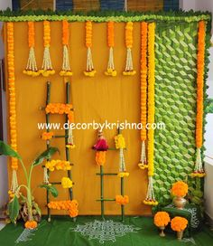 Amazing Mad weave Coconut mat for haldi by Décor by Krishna-Hyderabad. Wedding Flower Decorations, Backdrop Decorations, Diwali Decorations, Ceremony Decorations, Wedding Themes, Backdrops, Wedding Venues, Leaf Flowers, Paper Flowers