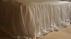 CustomLinensHandmade on Etsy: linen bedspread linen bed cover ruffle bedding with mini ruffle hem linen bedding shabby chic bedding bedding (247.00 USD)