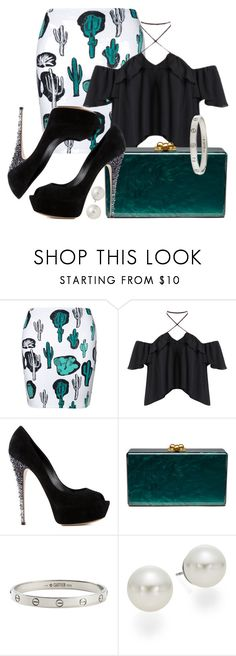 """Cactus"" by kweencupcake08 on Polyvore featuring Casadei, Edie Parker, Cartier and AK Anne Klein"