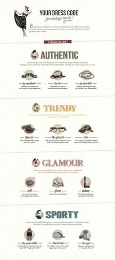 #Vintage Dress Code #Infographic about #fashion
