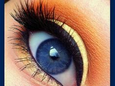 Yellow eyeshaddow makes blue eyes brighter. Now I'm on a quest to find the perfect yellow eyeshadow