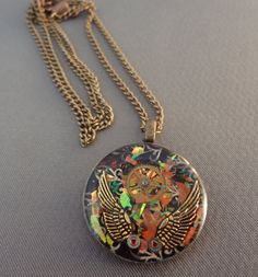 Upcycled Steampunk Watch Resin Necklace with by SakurasBlossoms, $30.00