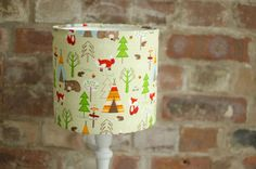Woodland nursery lampshade, Bear nursery decor, Green lamp shade, Unisex nursery decor, Woodland animals, Woodland nursery, Green nursery by ShadowbrightLamps on Etsy https://www.etsy.com/uk/listing/557981761/woodland-nursery-lampshade-bear-nursery