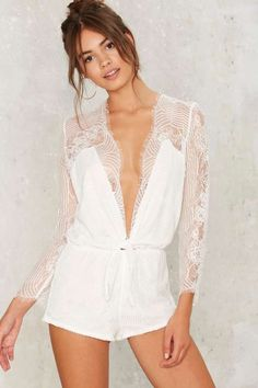 Come Hither Lace Romper