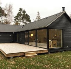 Modular homes by Denmark based Mønhuset Modern Barn House, Timber House, Affordable Housing, Prefab Homes, House Goals, Future House, Building A House, Architecture Design, New Homes
