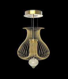 Silhouette 40 inch Light features beautiful pendant light in Matte Gold, Chrome and Copper finish. 40 watt, 12 volt JC/G9 base Halogen bulbs are required, but not included. Small: 15.74 inch width x 15.74 inch height x 74.74 inch overall length. Large: 23.62 inch width x 43.3 inch height x 102 inch overall length.