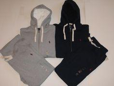 polo sweat suits | Polo Ralph Lauren Men's Classic Fleece Hoodie Track Jacket sweat Pants ...