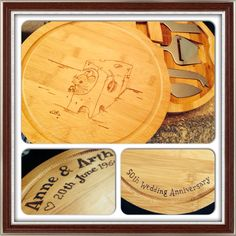 Personalised Chopping boards, have anything you like on it small from £22.50 medium from £30 Oblong large from £40 All plus p&p