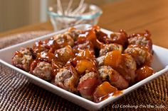 bacon wrapped meatballs