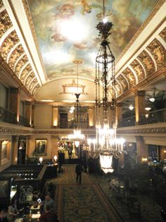 The Pfister Hotel's lobby
