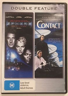 Sphere / Contact 2 DVD Double Feature