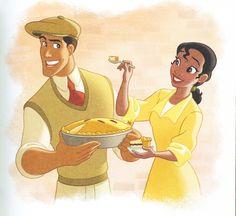 Disney Princess: A Cake To Bake - Tiana & Naveen Disney Songs, Disney Art, Disney Movies, Disney Characters, Disney Princess Tiana, Princesa Disney, Frog Princess, Princess Merida, Tiana And Naveen