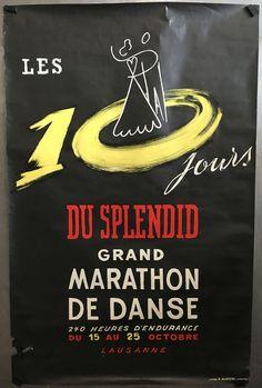 VAUD LAUSANNE les 10 jours du Splendid Rare affiche litho originale vers 1950