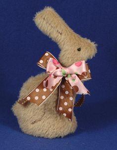 """Cadbury - 7"""" Chocolate Bunny Free Pattern by Laura Lynn -teddiesbylauralynn.com"""